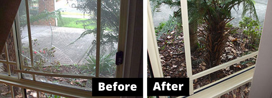 Broken Glass Window Monbulk 3793 Before and After
