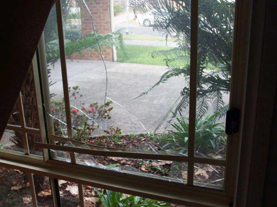 Broken glass sidelight Gembrook 3783
